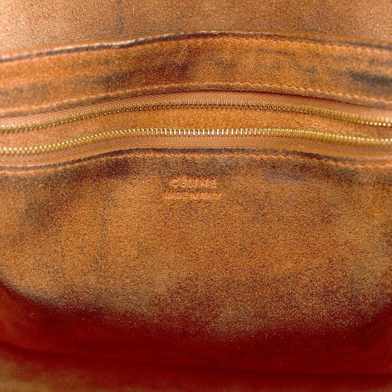 CELINE Tan brown Natural Calfskin leather SANGLE BUCKET Shoulder Bag For Sale 2
