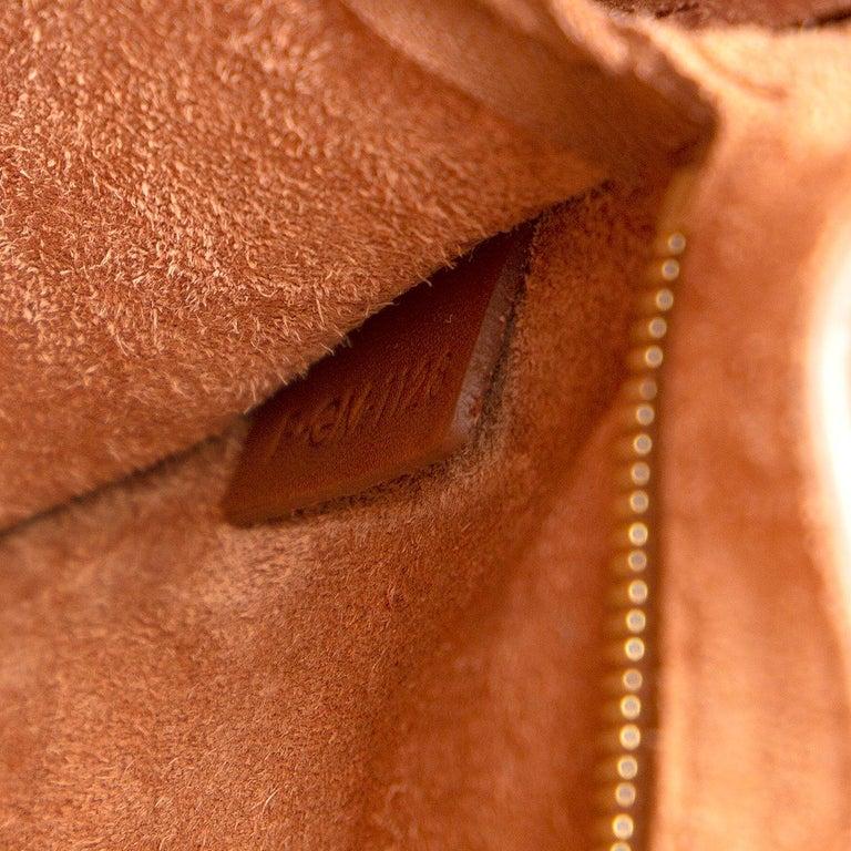 CELINE Tan brown Natural Calfskin leather SANGLE BUCKET Shoulder Bag 2