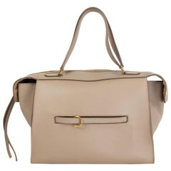CELINE taupe leather RING Top Handle Bag