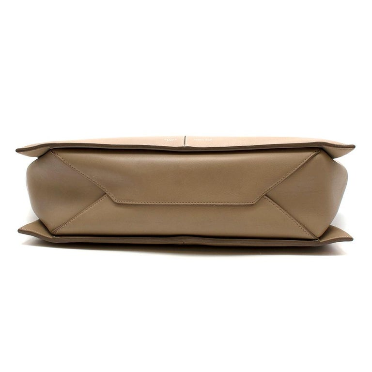 Brown Celine Taupe Leather Tri-Fold Bag  For Sale