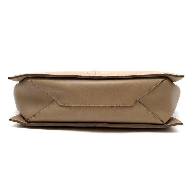 Brown Celine Taupe Leather Tri-Fold Bag  For Sale