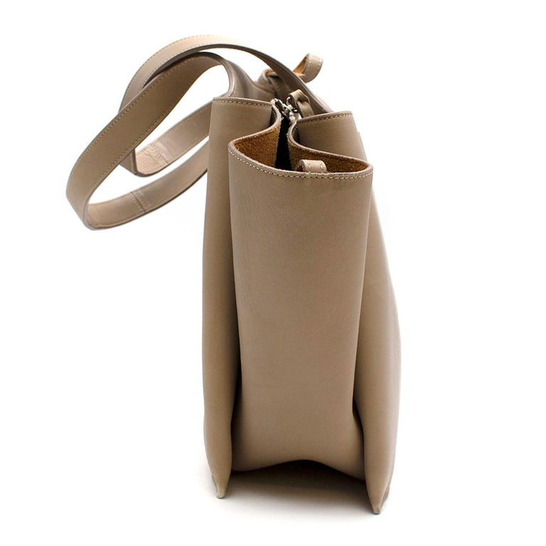 Women's or Men's Celine Taupe Leather Tri-Fold Bag  For Sale