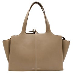 Celine Taupe Leather Tri-Fold Bag