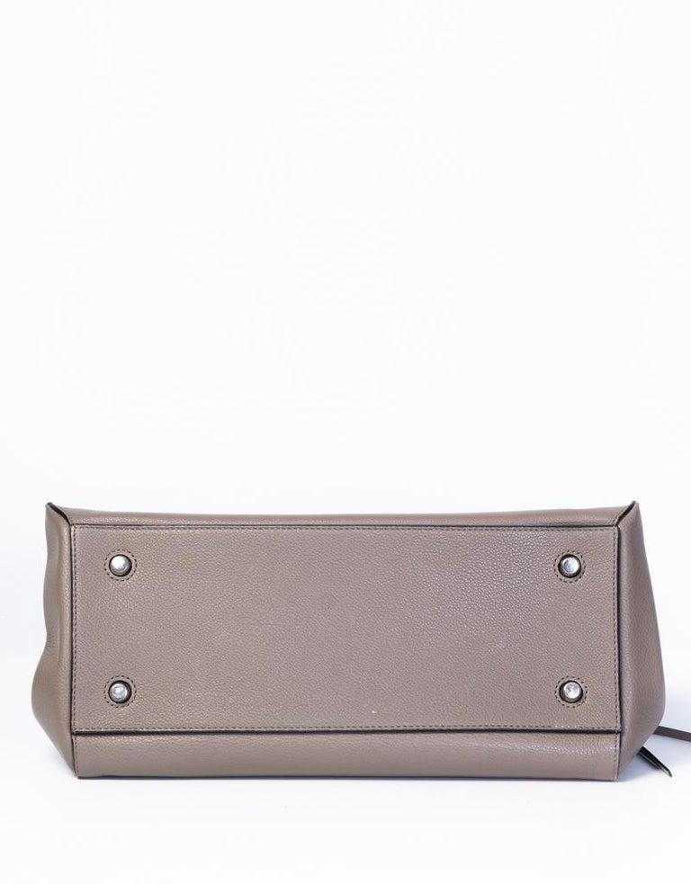 Gray Celine Taupe Medium Edge Shoulder Bag 2013 For Sale