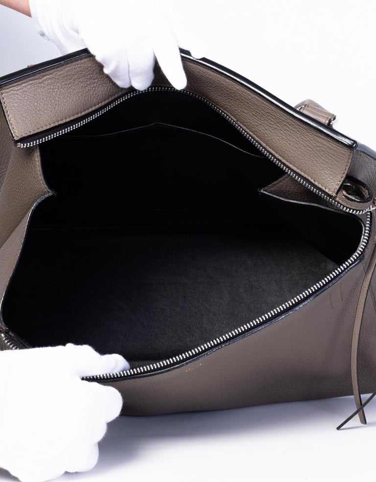 Celine Taupe Medium Edge Shoulder Bag 2013 For Sale 1