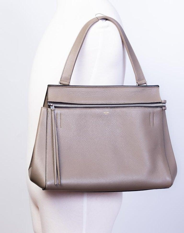 Celine Taupe Medium Edge Shoulder Bag 2013 For Sale 2