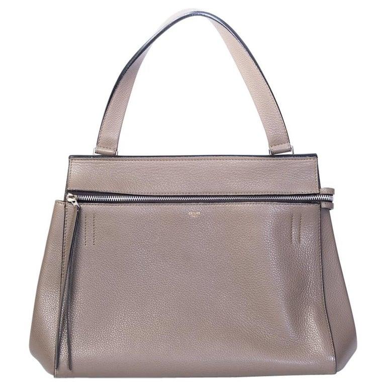 Celine Taupe Medium Edge Shoulder Bag 2013 For Sale
