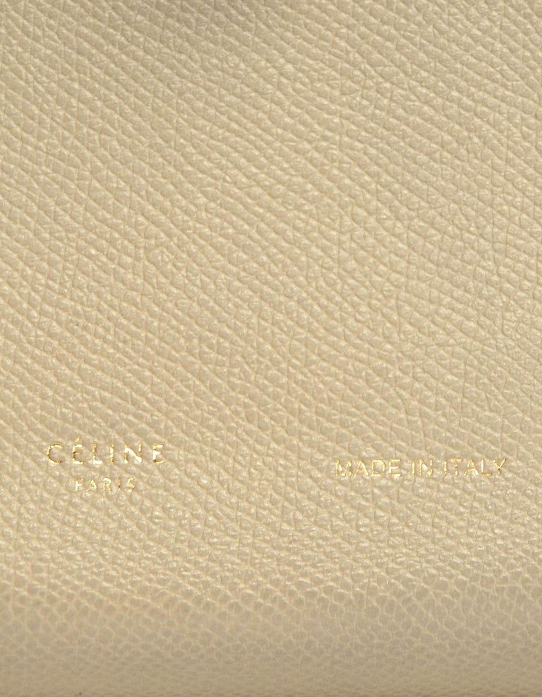 Celine Taupe/Red Grained Calfskin Large Multifunction Strap Wallet rt $810 2