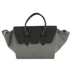 Celine Tie Knot Tote Leather and Felt Medium
