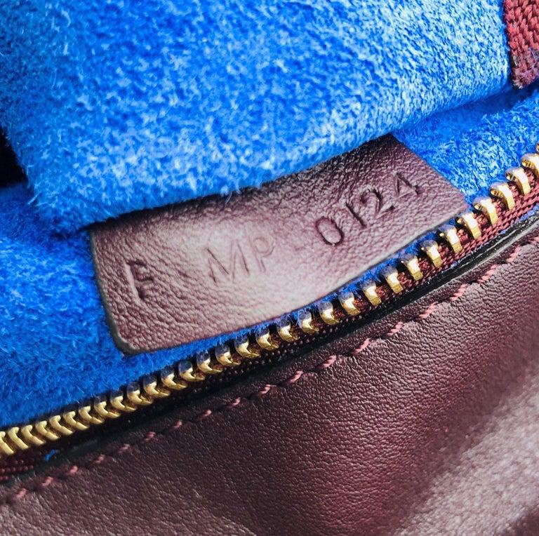 CÉLINE Tie Shoulder bag in Burgundy Leather For Sale 2