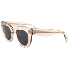 Celine Transparent Peach Clear Cat Eye Sunglasses with Case