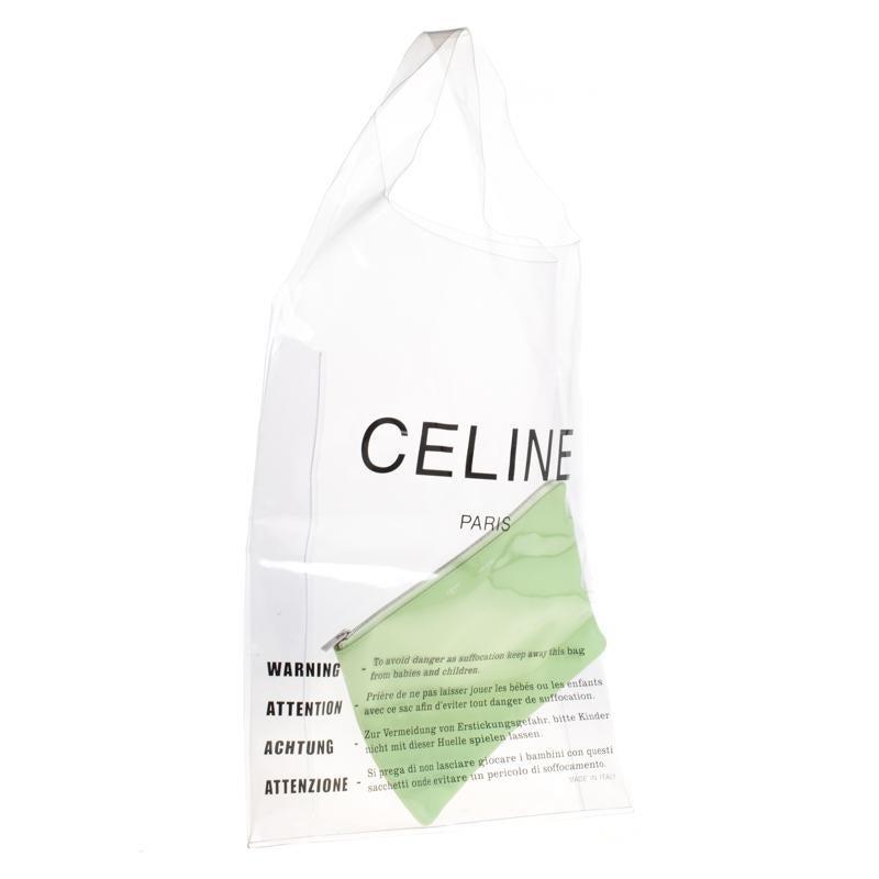 Transparent Plastic Celine Bag With Zip Clutch Pouch ZTPuOwXki