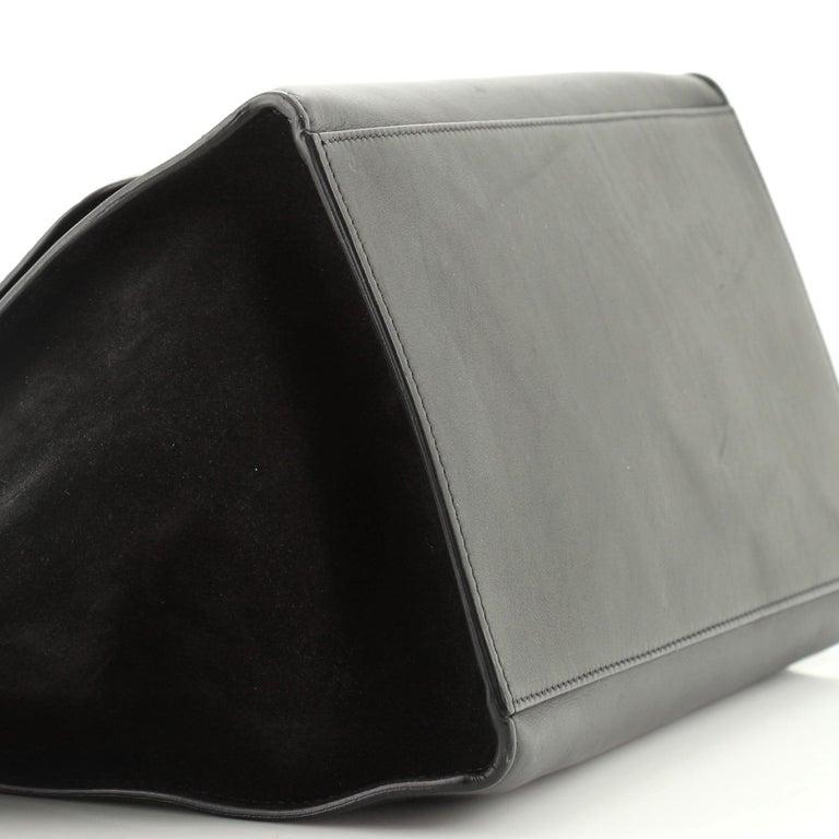 Celine Trapeze Bag Crocodile Embossed Leather Medium 1