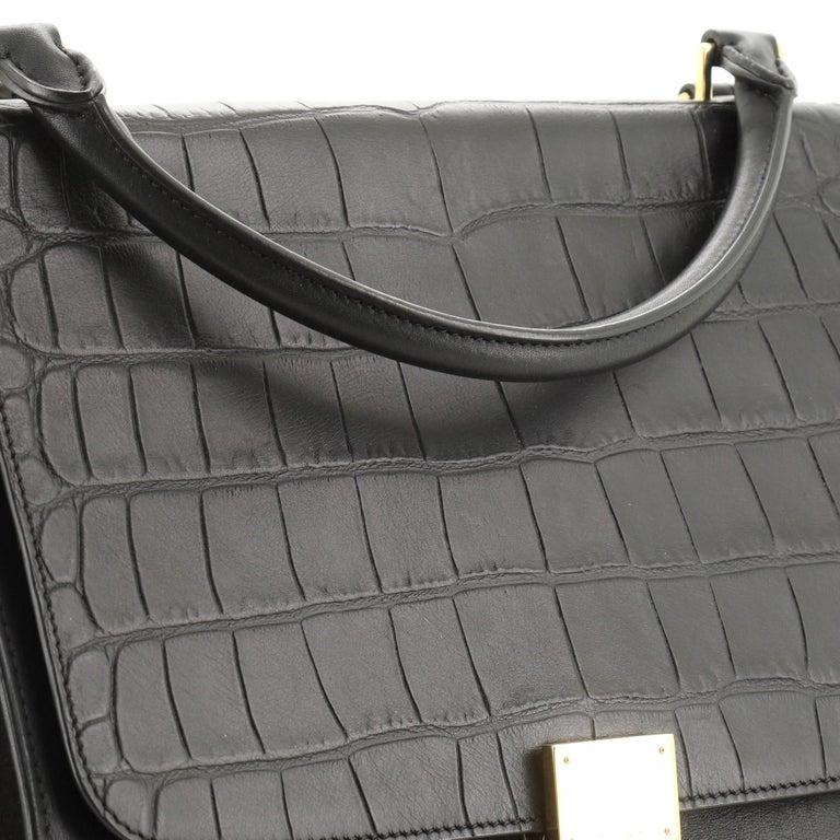 Celine Trapeze Bag Crocodile Embossed Leather Medium 2