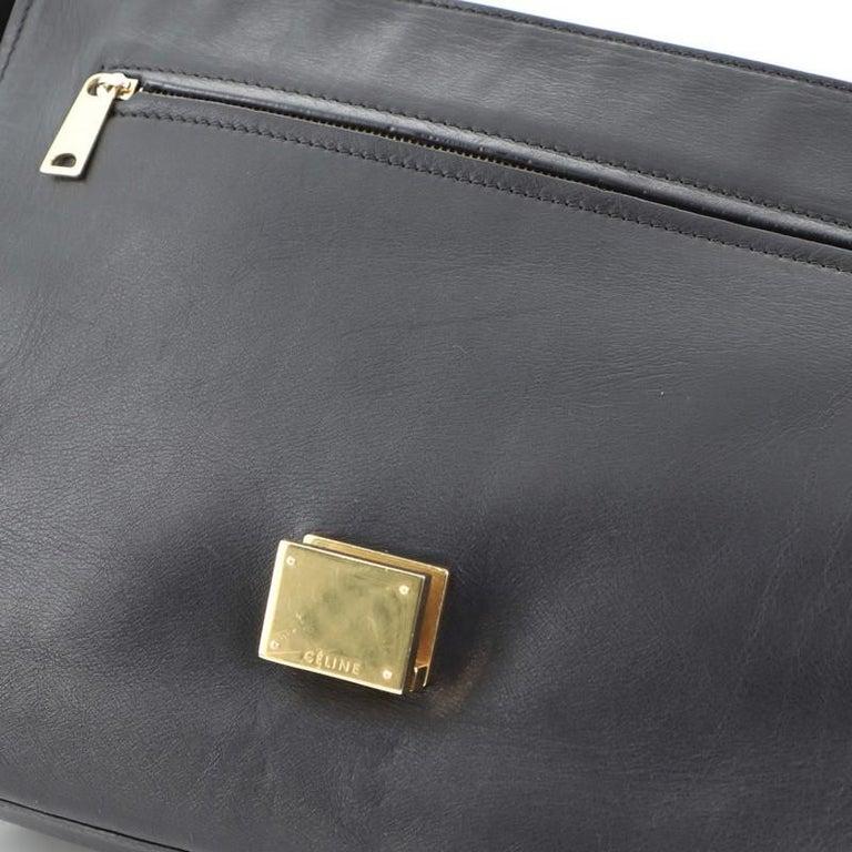 Celine Trapeze Bag Leather Medium For Sale 6