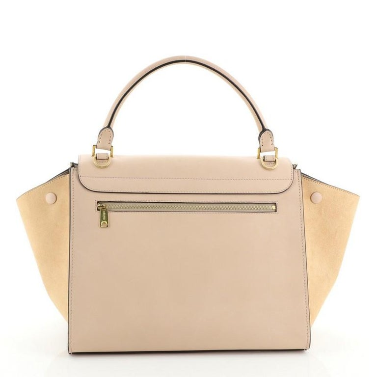 Celine Trapeze Bag Leather Medium In Good Condition For Sale In New York, NY