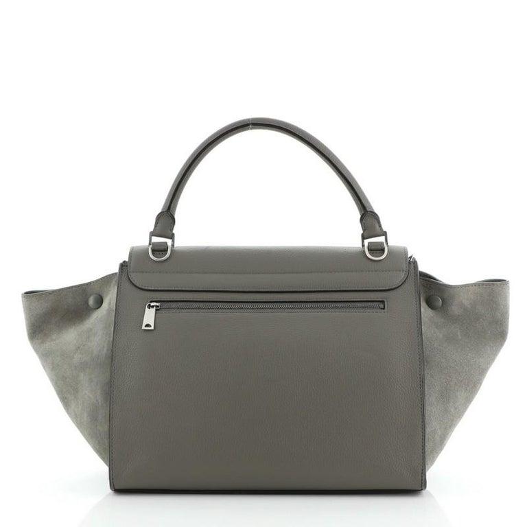 Gray Celine Trapeze Bag Leather Medium