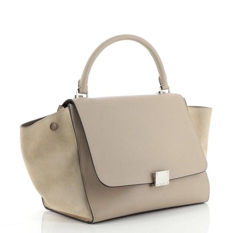 Brown Celine Trapeze Bag Leather Medium