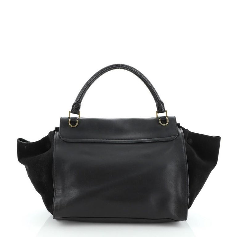 Celine Trapeze Bag Leather Medium In Fair Condition For Sale In New York, NY