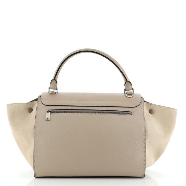 Celine Trapeze Bag Leather Medium In Good Condition In New York, NY