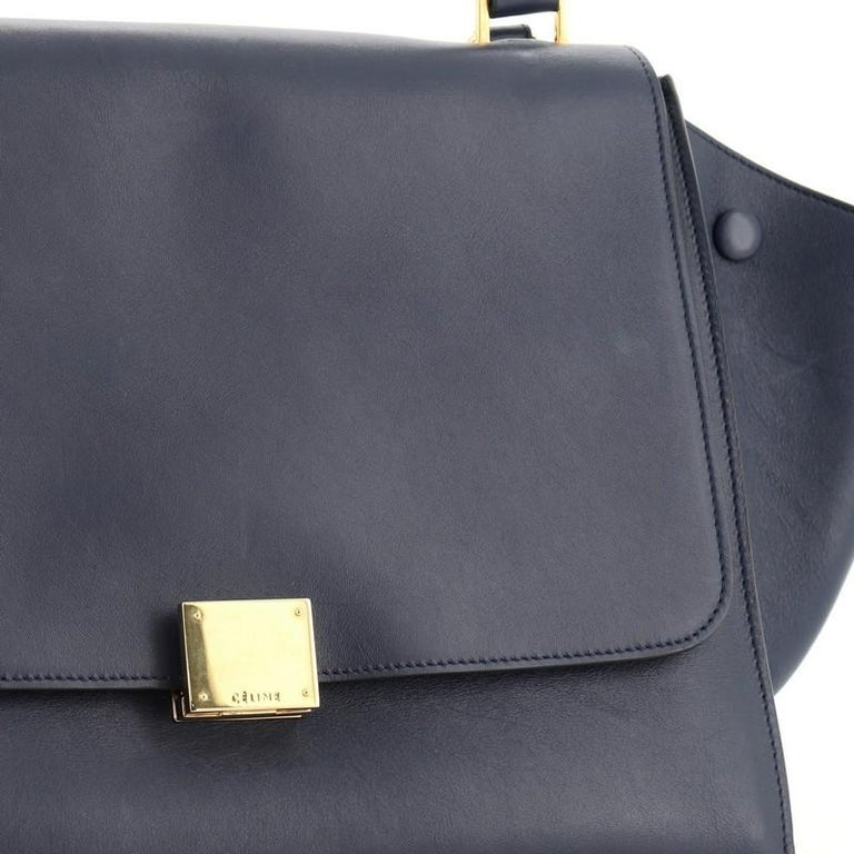 Celine Trapeze Bag Leather Medium For Sale 2