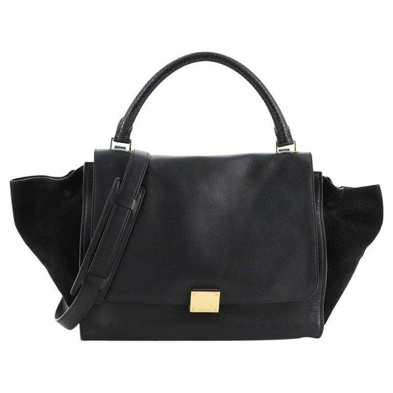 Celine Trapeze Bag Leather Medium For Sale