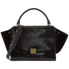 Celine Trapeze Bag Patent Medium