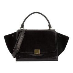 Celine Trapeze Bag Patent Medium