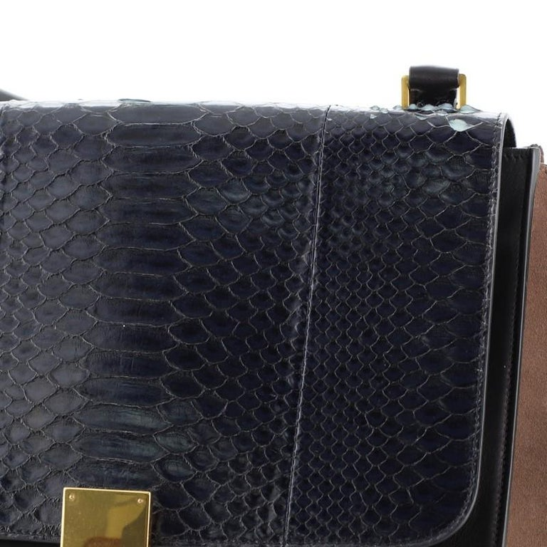 Celine Trapeze Bag Python and Leather Medium For Sale 2