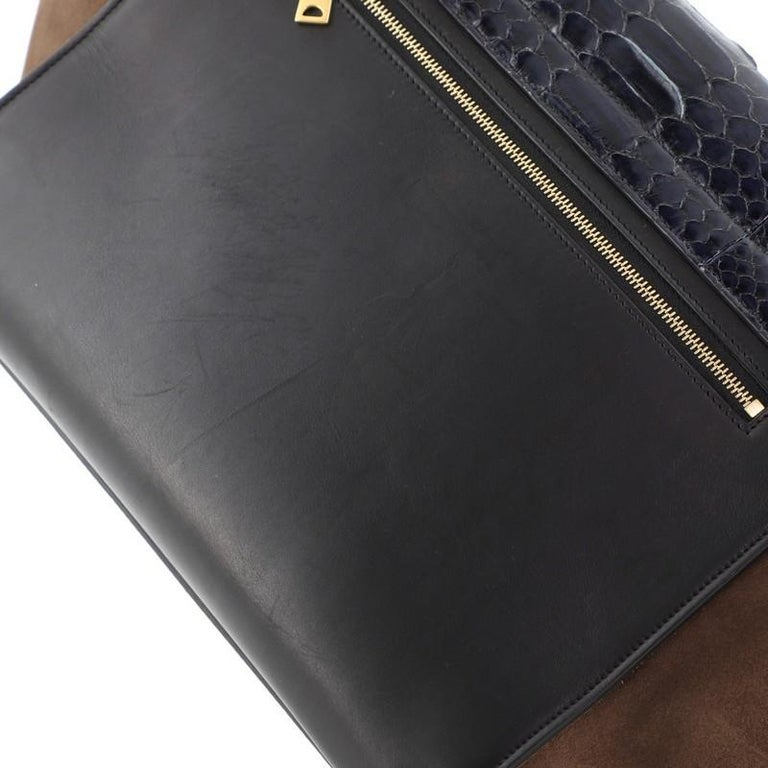 Celine Trapeze Bag Python and Leather Medium For Sale 3