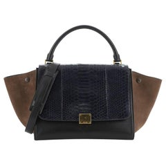 Celine Trapeze Bag Python and Leather Medium