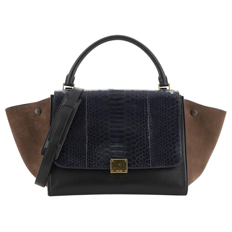 Celine Trapeze Bag Python and Leather Medium For Sale