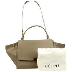 Céline Trapeze Celtl03 Taupe Satchel