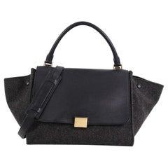 Celine Trapeze Handbag Leather and Felt Medium