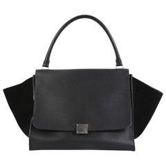 Celine Trapeze Handbag Leather Large
