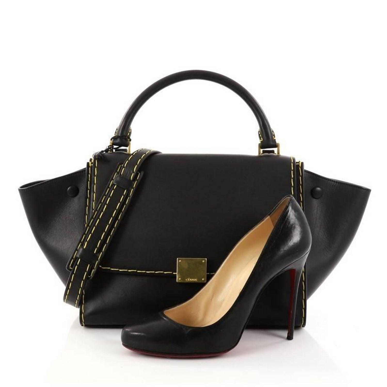 Celine Trapeze Handbag Leather Small at 1stdibs 92a1835b07