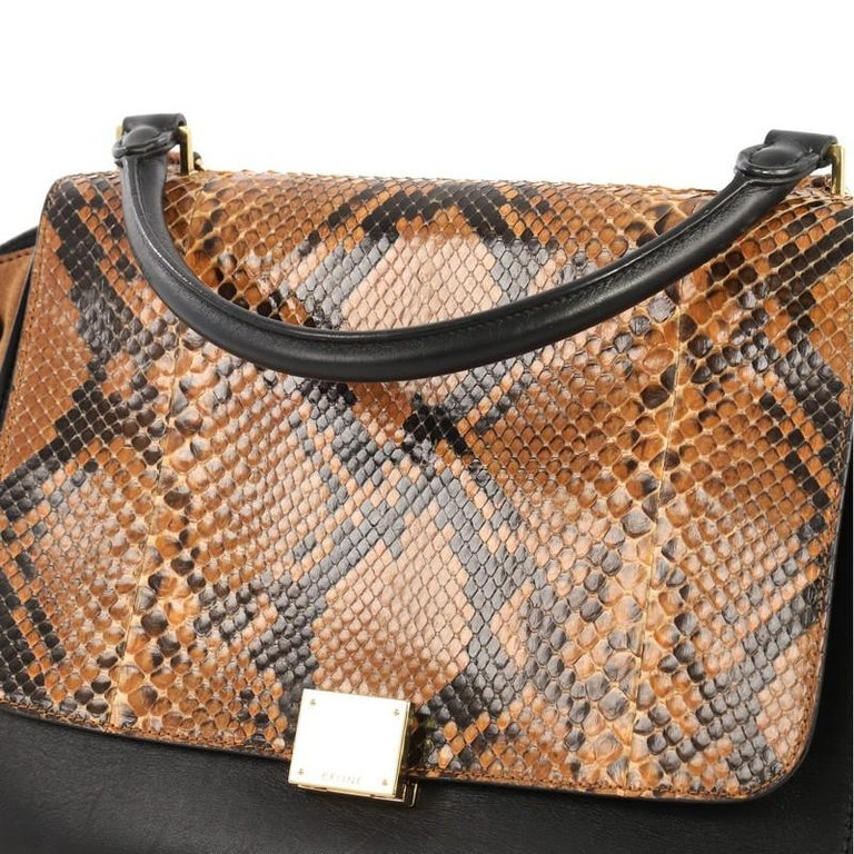 a9401ff908 Celine Trapeze Handbag Python Medium For Sale at 1stdibs