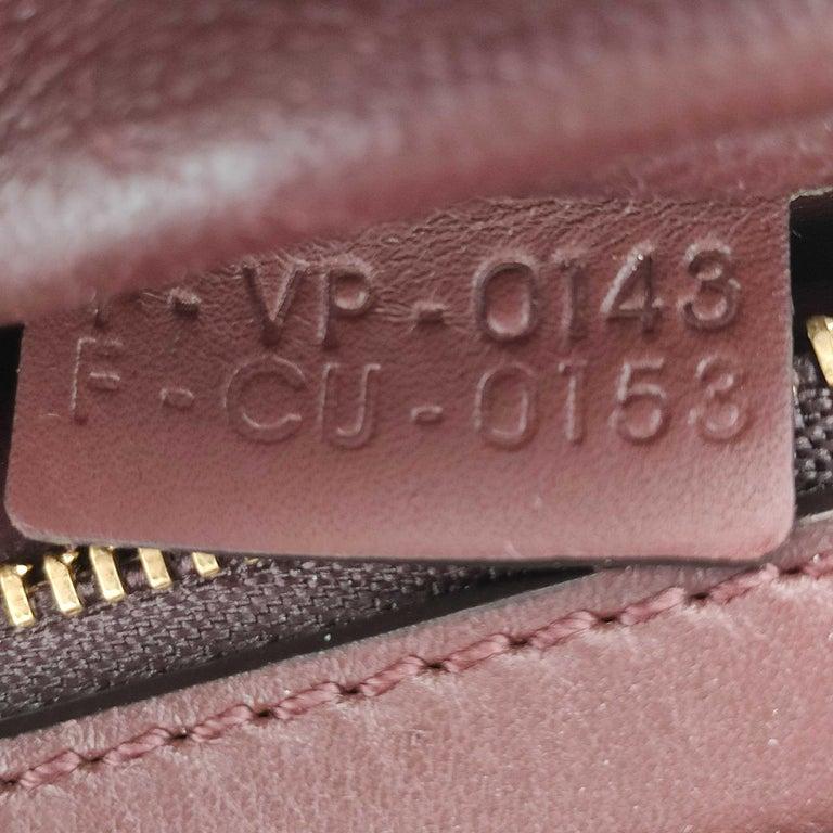 CÉLINE Trapeze Shoulder bag in Burgundy Leather For Sale 2