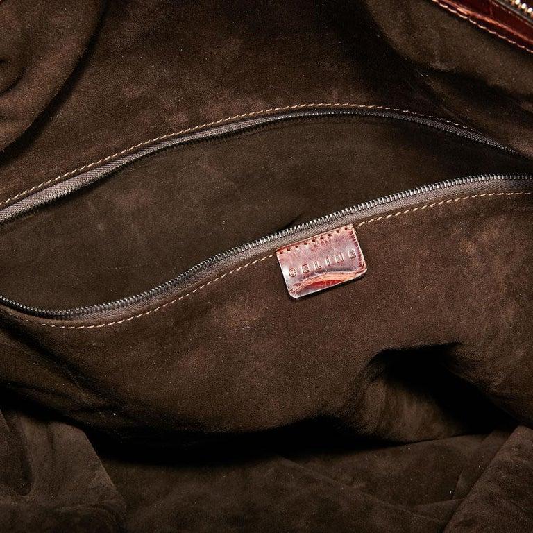 CELINE Travel Bag in Ice Browned Mississipi Alligator For Sale 9