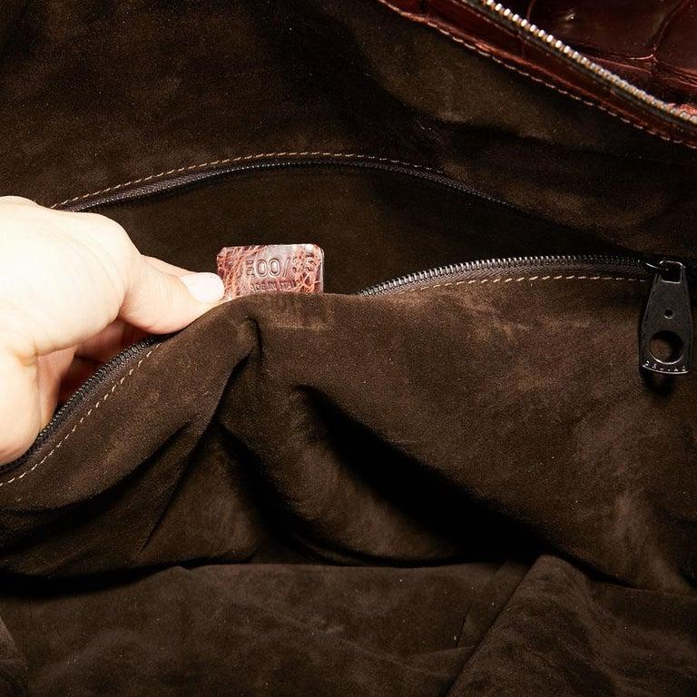 CELINE Travel Bag in Ice Browned Mississipi Alligator For Sale 10