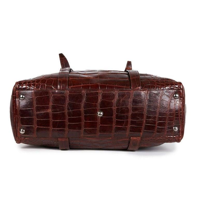 CELINE Travel Bag in Ice Browned Mississipi Alligator For Sale 1