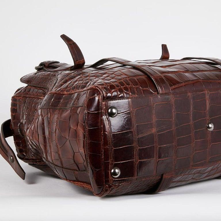 CELINE Travel Bag in Ice Browned Mississipi Alligator For Sale 2