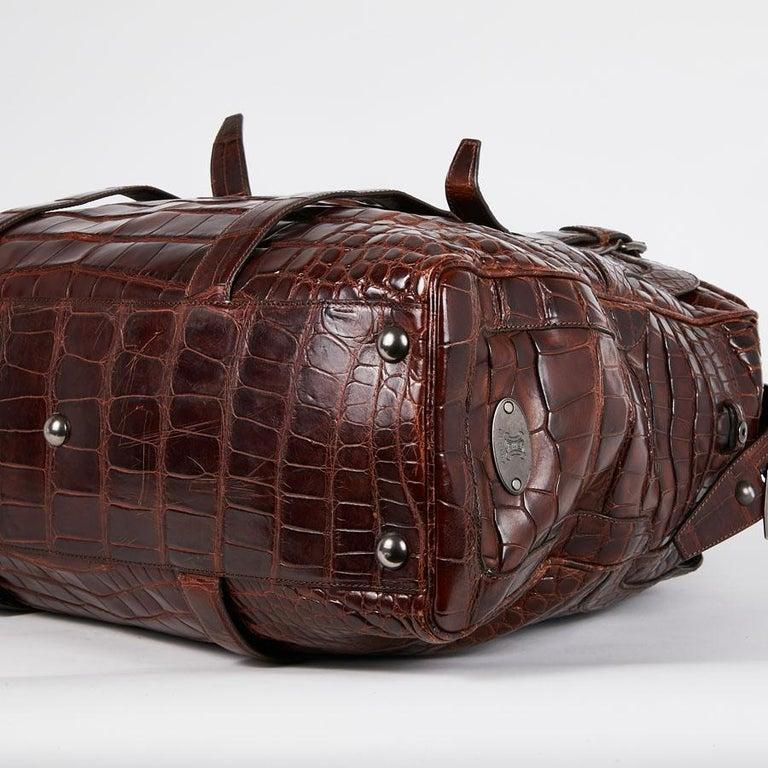 CELINE Travel Bag in Ice Browned Mississipi Alligator For Sale 3
