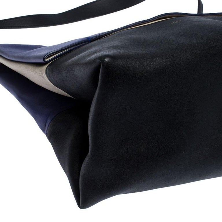 Celine Tri Color Leather All Soft Shoulder Bag For Sale 2