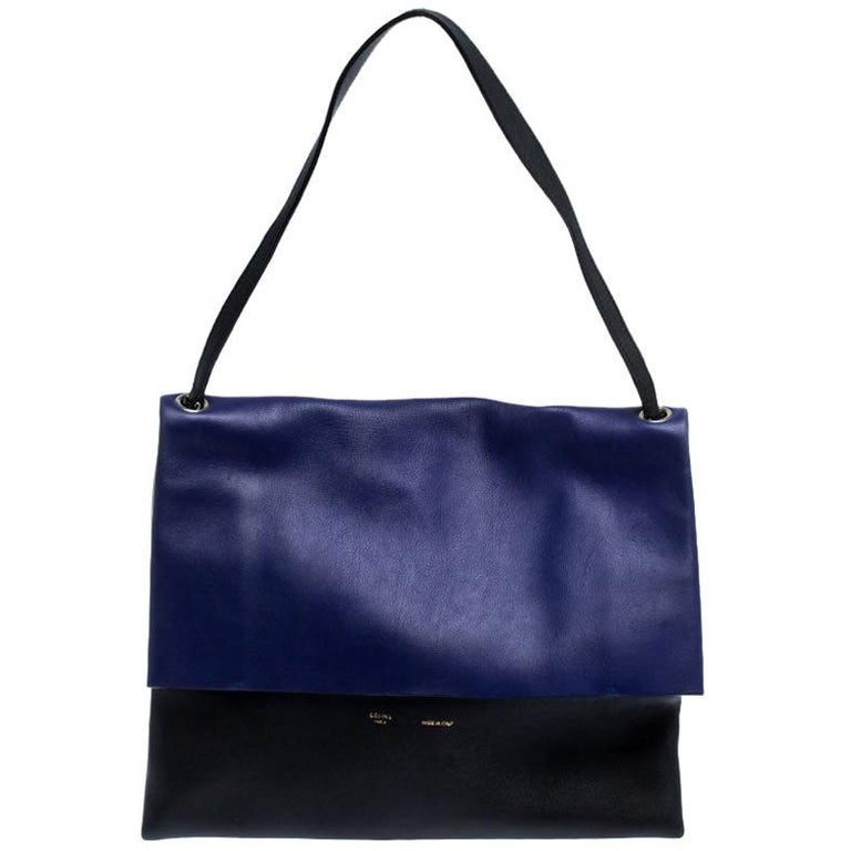 Celine Tri Color Leather All Soft Shoulder Bag For Sale