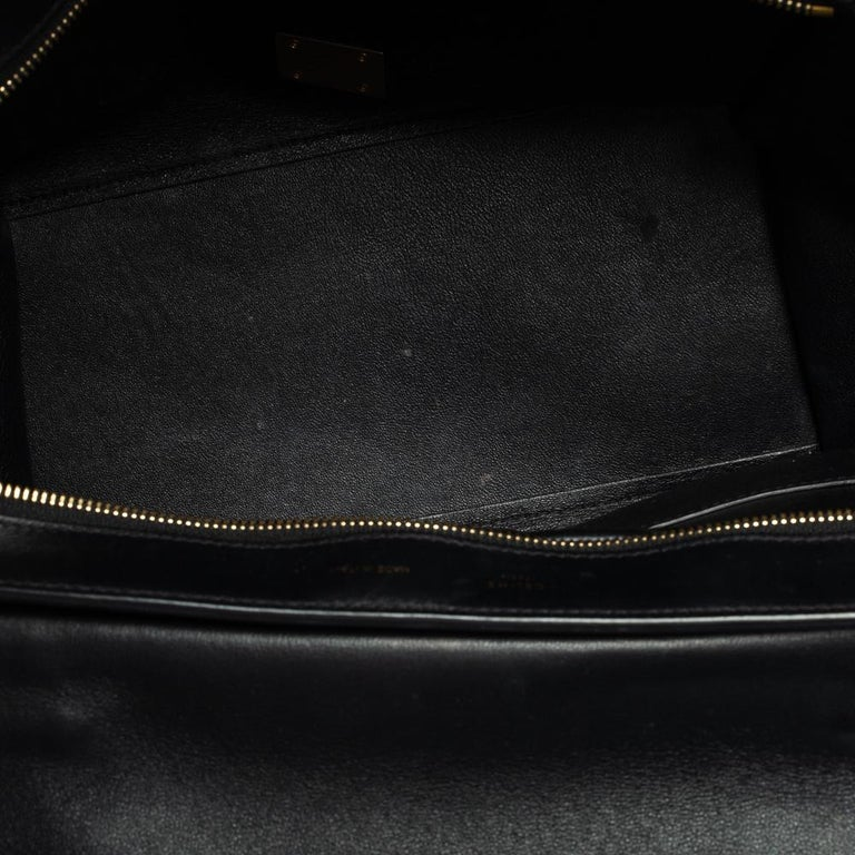 Celine Tri Color Leather and Canvas Medium Trapeze Bag For Sale 6