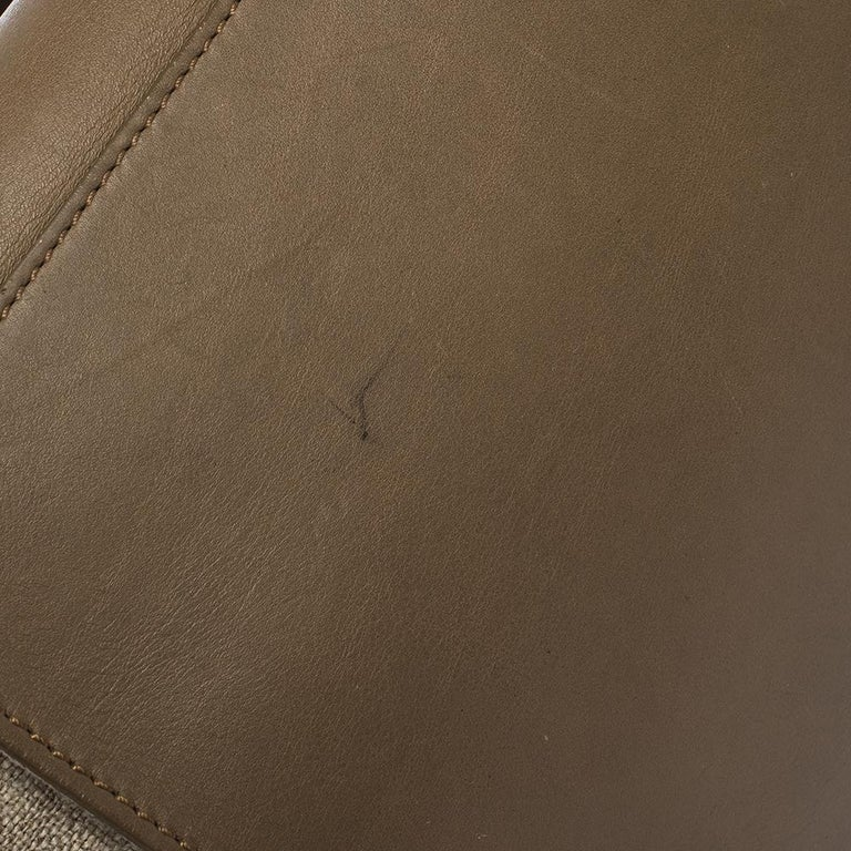 Celine Tri Color Leather and Canvas Medium Trapeze Bag For Sale 1