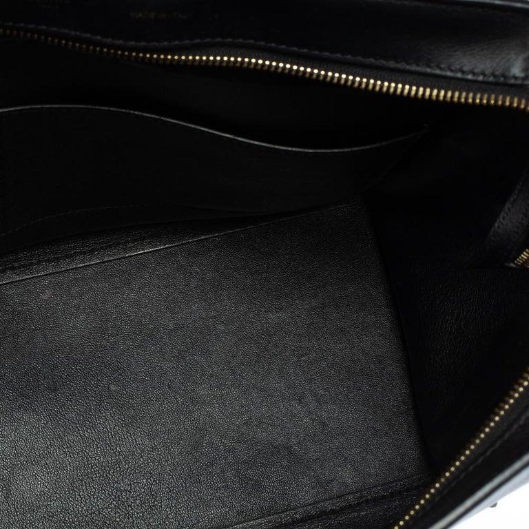 Celine Tri Color Leather and Canvas Medium Trapeze Bag For Sale 3