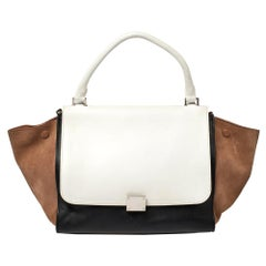 Celine Tri Color Leather and Suede Medium Trapeze Bag
