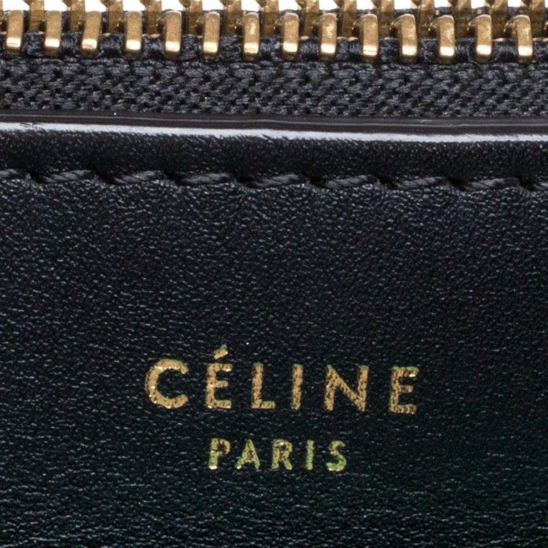 Celine Tri Color Leather Medium Pocket Chain Shoulder Bag For Sale 5